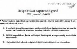Új szolgáltatás: Belpolitikai napirendfigyelés