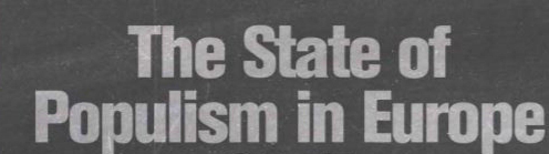 """Új kiadvány: """"A populizmus helyzete Európában – 2017"""""""