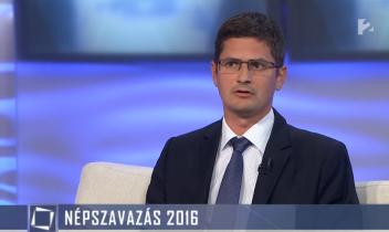 Bíró-Nagy András a kvótanépszavazásról a TV2 választási műsorában